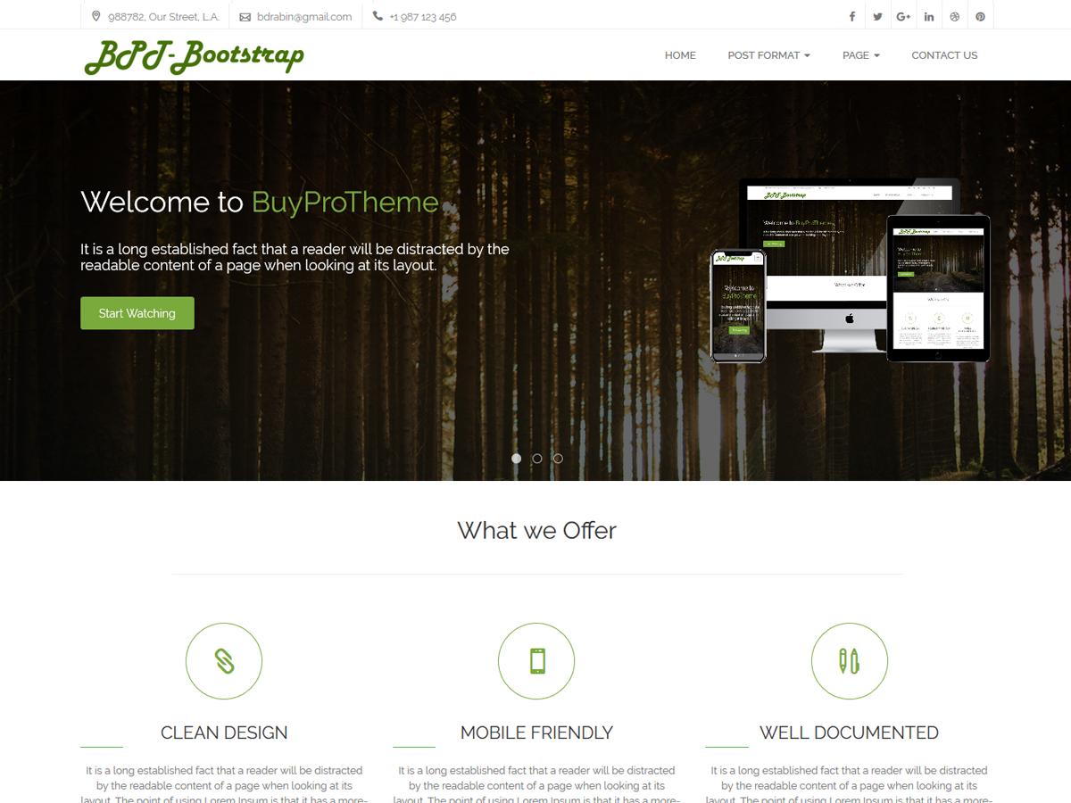 Bootstrap Modern Business Theme Buyprotheme