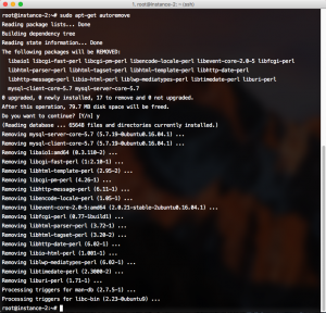 Uninstall MySQL