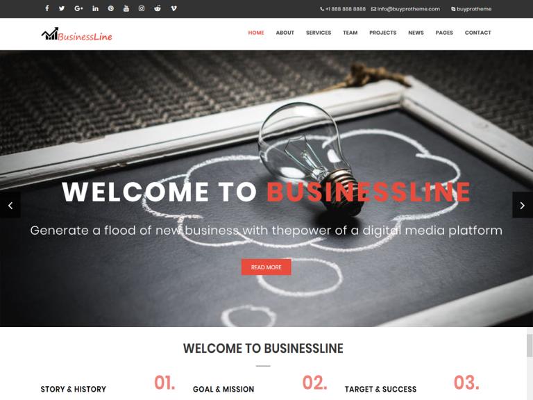 Business Line | Business, Finance WordPress Theme