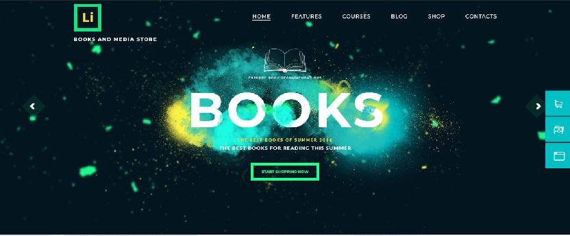 ShopStore - WordPress bookstore theme